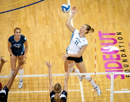 University-of-San-Diego-Volleyball-Overhead-San-Diego,-CA